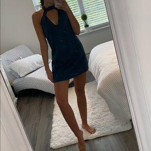 Dark teal blue dress